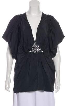 Lanvin Silk Embellished Top