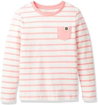 Giordano (ジョルダーノ) - (ジョルダーノ) GIORDANO ボーダーポケットTシャツ G17AW-03027616 ピンク 130