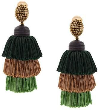 Oscar de la Renta tiered tassel earrings