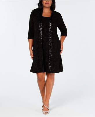 Alex Evenings Plus Size Sequin Sheath Dress & Jacket