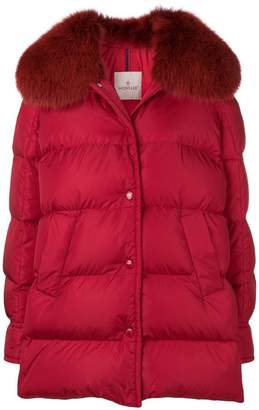 Moncler fur-trimmed padded jacket