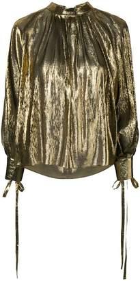 Osman Tulia lamé blouse