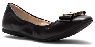 Cole Haan Tali Modern Bow Leather Ballet Flats