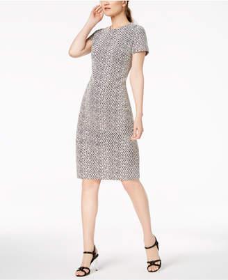 Calvin Klein Textured Stripe Sheath Dress