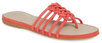 VIA BLEU Anna Knotted Slide Sandal (Women)