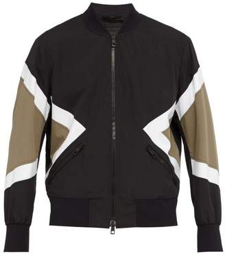 Neil Barrett Modernist Cotton Blend Bomber Jacket - Mens - Black Multi