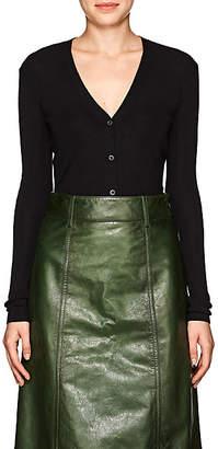 Prada Women's Cashmere-Silk V-Neck Cardigan. - Black