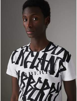 Burberry Graffiti Print Cotton T-shirt