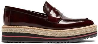 Prada Leather flatform loafers
