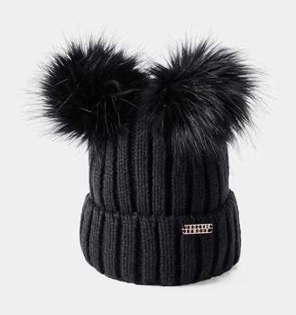 Under Armour Women's UA LV Cortina Double Pom Beanie