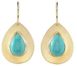Irene Neuwirth Teardrop Turquoise Earrings - Yellow Gold