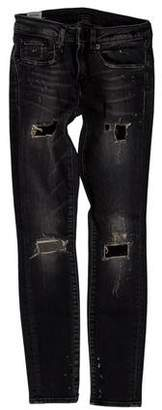 R 13 Low-Rise Skinny-Leg Jeans