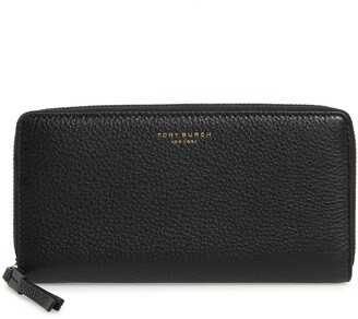 Tory Burch Perry Leather Continental Zip Wallet