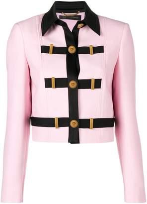 Versace contrast trim jacket