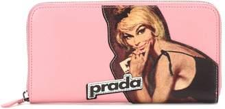 Prada Printed leather wallet