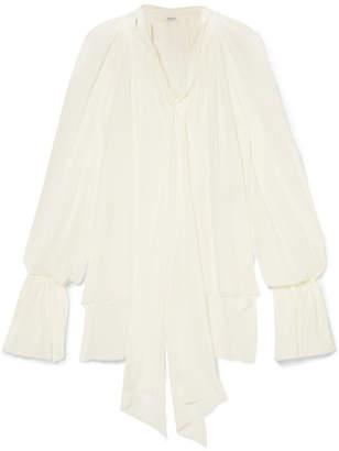 Thierry Mugler Silk-chiffon Blouse - Off-white