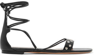Alexander McQueen Studded Leather Sandals - Black