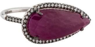 Suzanne Kalan 18K Ruby & Diamond East West Ring
