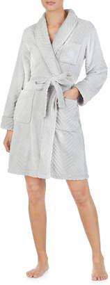 Lauren Ralph Lauren Shawl Collar Fleece Short Robe