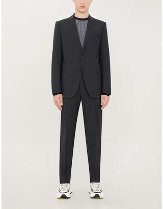 Regular-fit straight wool suit
