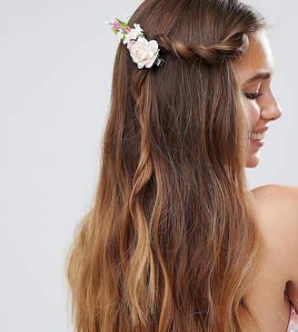 Asos DESIGN Pack of 2 Floral Stem Hair Clip