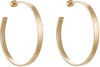 Jennifer Fisher Women's Skinny Flat Hoops $365 thestylecure.com