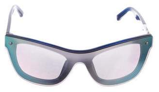 3.1 Phillip Lim Tinted Shield Sunglasses