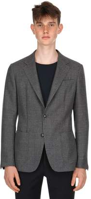 Ermenegildo Zegna Knit Effect Wool & Cotton Blend Jacket