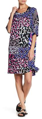 Versace Mixed Print Side Tie Cover Up