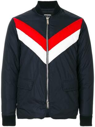 DSQUARED2 striped bomber jacket