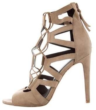 Rebecca Minkoff Suede Caged Sandals