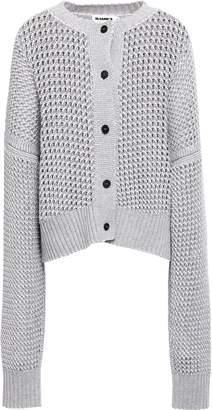 Jil Sander Open-knit Wool And Cashmere-blend Cardigan
