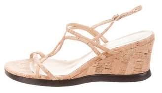 Stuart Weitzman Cork Wedge Sandals