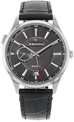 Zenith Men's 03.2130.682/22.C493 Captain Dual Time Black Dual Time Display Watch