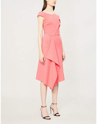 Roland Mouret Barwick Fit-And-Flare Wool-Crepe Dress