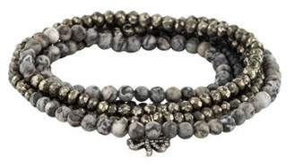 Sydney Evan 14K Multistone & Diamond Clover Wrap Bracelet