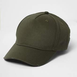 River Island Mens Khaki green baseball cap