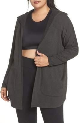 Beyond Yoga Love & Fleece Split-Back Hooded Cardigan
