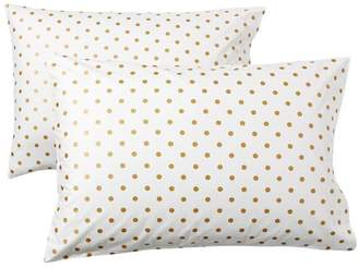 Pottery Barn Teen The Emily &amp Meritt Metallic Dottie Sheet Set, Extra Pillowcases, Set of 2