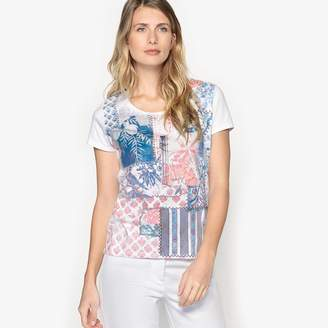 Anne Weyburn Printed Short-Sleeved Cotton T-Shirt
