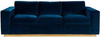 Lange Sofa - Dark Teal Velvet - Lillian August