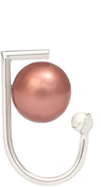 LeiVanKash Yan White Rhodium Plated Brass-Faux Mocha, Coral and Pink Pearl Ring - Size H