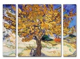 "Mulberry Trademark Global Vincent Van Gogh 'Mulberry Tree 1889' Multi Panel Art Set Small - 24"" x 32"""