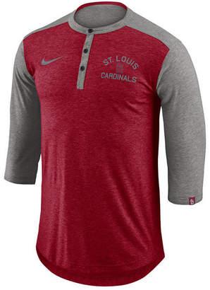 Nike Men's St. Louis Cardinals Dry Henley Top