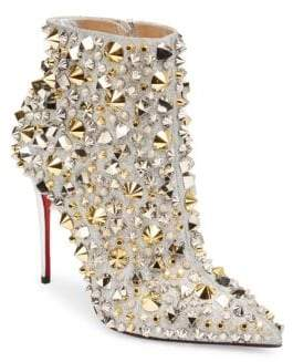 Christian Louboutin So Full Kate 100 Glitter Leather Booties