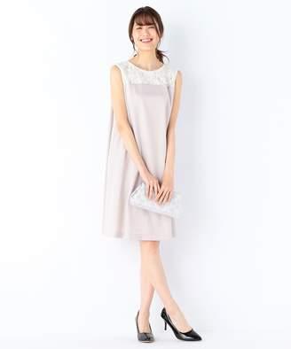 Kumikyoku (組曲) - 組曲 【結婚式やパーティに】スパンコールレースコンビキュプラサテン ドレス(C)FDB