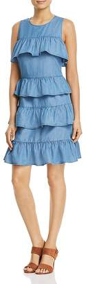 MICHAEL Michael Kors Chambray Ruffle Dress