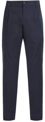 A.P.C. Tailored Cotton Trousers - Mens - Navy