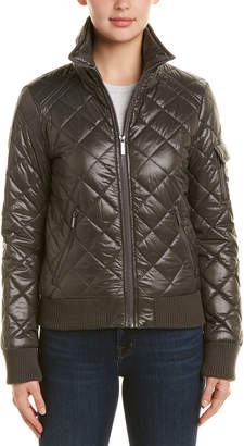 French Connection Quilted Short Bomber Jacket