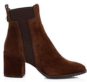 Tod's Women's T Elastic Suede Chelsea Boots